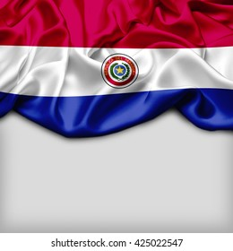 Paraguay Abstract flag and Plain background