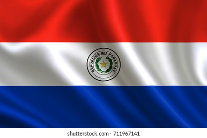 """Paraguay flag. A series of """"Flags of the world."""" (The country - Paraguay flag)"""