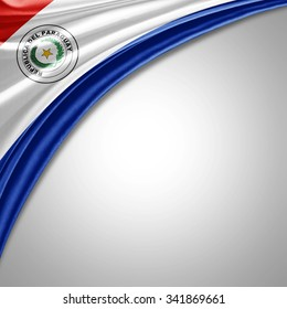 Paraguay flag  of  silk with copyspace for your text or images