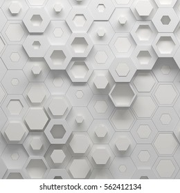 Parametric hexagonal pattern, 3d illustration