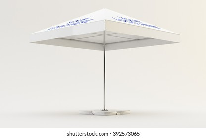 Parasol Mock up on white background