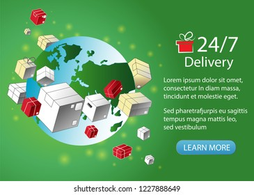 parcels delivery around the clock mail planet new year