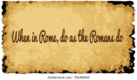 Image result for do what the romans do