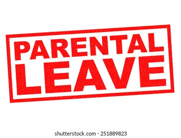 PARENTAL LEAVE red Rubber Stamp over a white background.