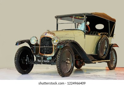 PARIS,FRANCE-August 22,2009:Citroen Type A Torpedo was produced from June 1919 to December 1921 in Paris, France. It was the very first Citroen car ever made.