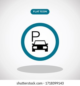 Parking icon symbol. isolated road sign