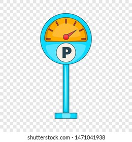 Parking meter icon. Cartoon illustration of parking meter icon for web design
