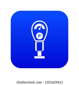 Parking meters icon digital blue for any design isolated on white illustration