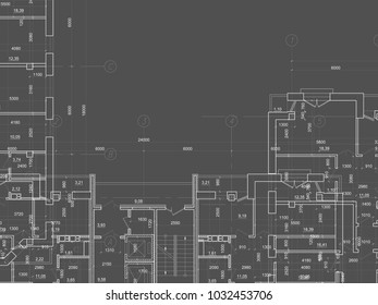 Building blueprint images stock photos vectors shutterstock part of abstract architectural project on the dark background technical plans malvernweather Image collections