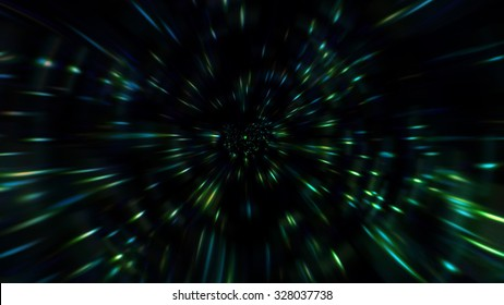 Particle zoom or space high-speed effects for background or artwork design.