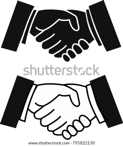 Partner Agreement Business Harmony Stock Illustration Royalty Free