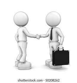 Partnership.  3d image isolated on white background.