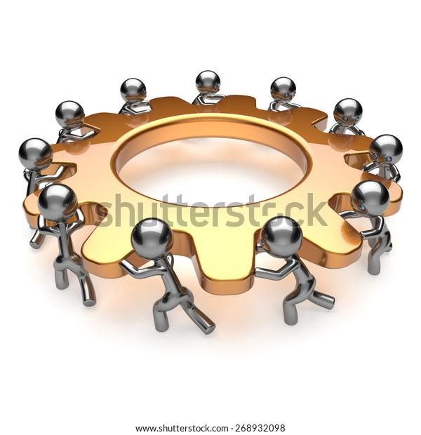Partnership Teamwork Unity Business Process Workers Stock