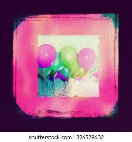 Party balloons celebration illustration