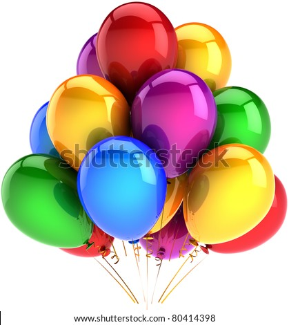 Party Balloons Happy Birthday Balloon Decoration Multicolor Baloon Red Blue Yellow Green Purple Beautiful Childhood