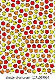 Party design. Simple template. Throng with comic smileys.