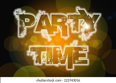 Party Time Concept text on background