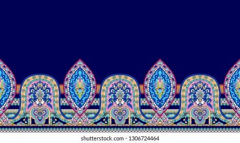 Pasiley shawl pattern border design