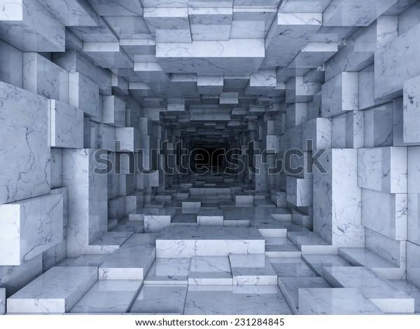 Realistic 3d passage wallpaper