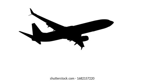 Passenger Airplane or Aircraft isolated on white background with clipping path or cut out