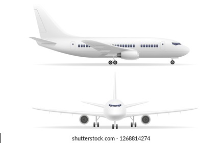 passenger airplane stock illustration isolated on white background