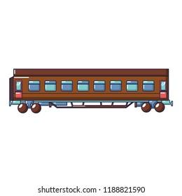 Passenger wagon icon. Cartoon of passenger wagon icon for web design isolated on white background