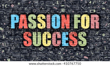 Passion Success Concept Modern Illustration Multicolor Stock