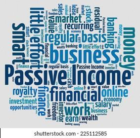 Passive Income concept in word collage