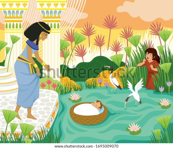 Baby Moses Sunday School Removable Children's Wall Mural