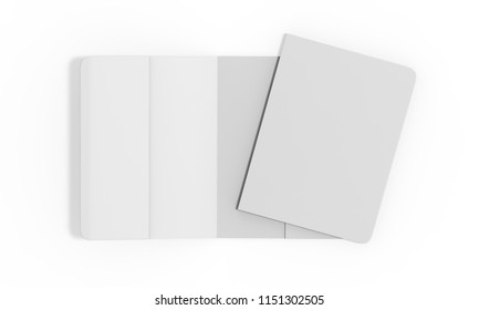 Passport Cover Mock Up On Isolated White Background, 3D Illustration