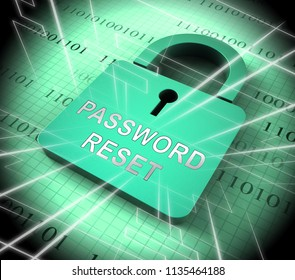 Password Reset Email Interface Update 3d Rendering Shows Invalid Login Problem Message To Re-Set And Update