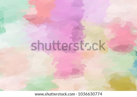 pastel art nice color splashes surface your stock illustration