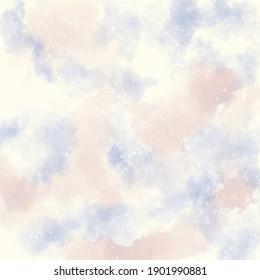 Pastellfarbener Hintergrund - Kosmografik - Himmel