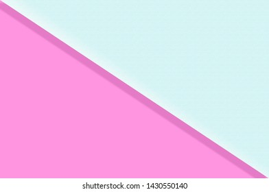 Pastel background. The Paper folded in half texture paper is Light blue and pink