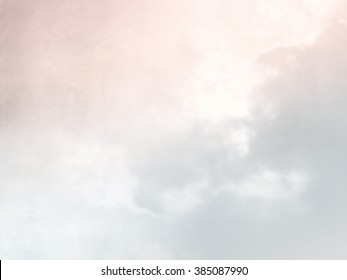 Pastel background sky texture in soft watercolor gray pink