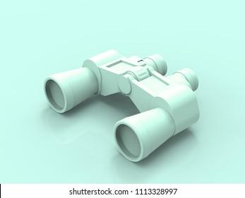 Pastel Binoculars 3D Render