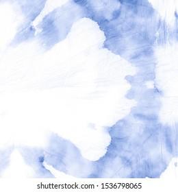 Pastel Blue Tie Die Pattern .Tie Dye Dirty Drips. Abstract Watercolor Banner. Bright Tie Die Pattern Tie Dye Wet Wash. Blue Pastel Trendy Watercolour Print.