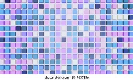 Pastel colored blocks in 3d