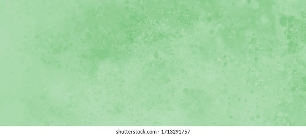 Pastel green background with faint texture and paint spatter design, elegant blank banner or paper in old vintage illustration