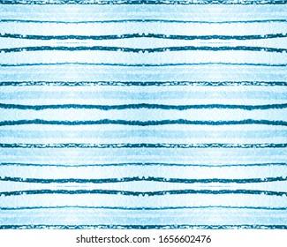 Pastel Grunge Texture. Seamless Watercolor Horizontal Stripe Wallpaper. Abstract Navy Fabric Print. Sea Grunge Pattern. Handdrawn Ethnic Lines. Textile Print. Seamless Grunge Pattern.