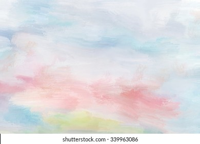 Pastel painted background in light hues