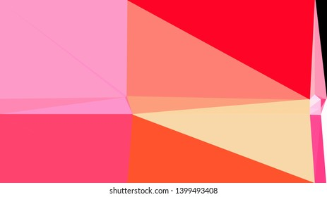 pastel red, pastel magenta and crimson color background with triangles. triangles style of different size and shape. simple geometric background for poster, cards, wallpaper or texture.