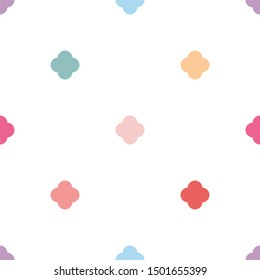 Pastel seamless pattern or tile fashion background