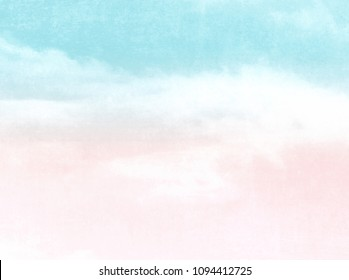 Pastel sky background in soft pale watercolors