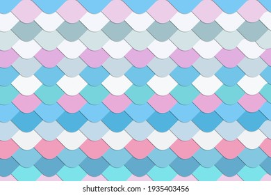 Pastel sweet color in multiple layers in paper cut style for background