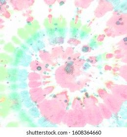 Pastel Tie Die Round. Yellow Hippie Textile. Colorful Psychedelic Background. Grunge Color Shirt. 60s Effect. Tye Dye Round. Purple Hippie Texture. Abstract Batik Fabric. Rainbow Tie Die Roll.