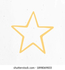 Pastel yellow color star clipart