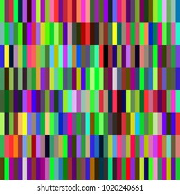 A patchwork background with colorful rectangle shapes.