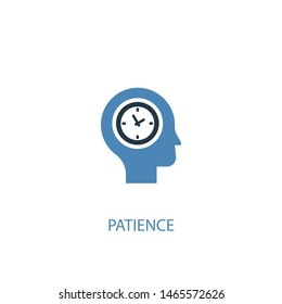 patience concept 2 colored icon. Simple blue element illustration. patience concept symbol design. Can be used for web and mobile UI/UX