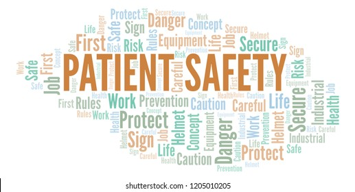 Patient Safety word cloud.